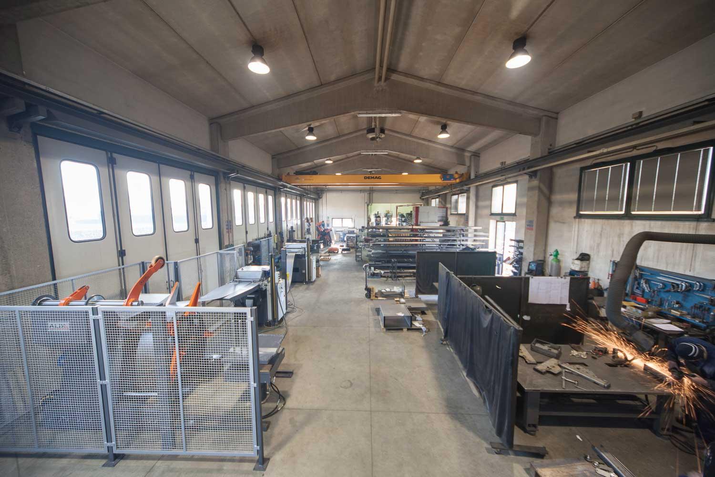 fotografo capannone industriale interno