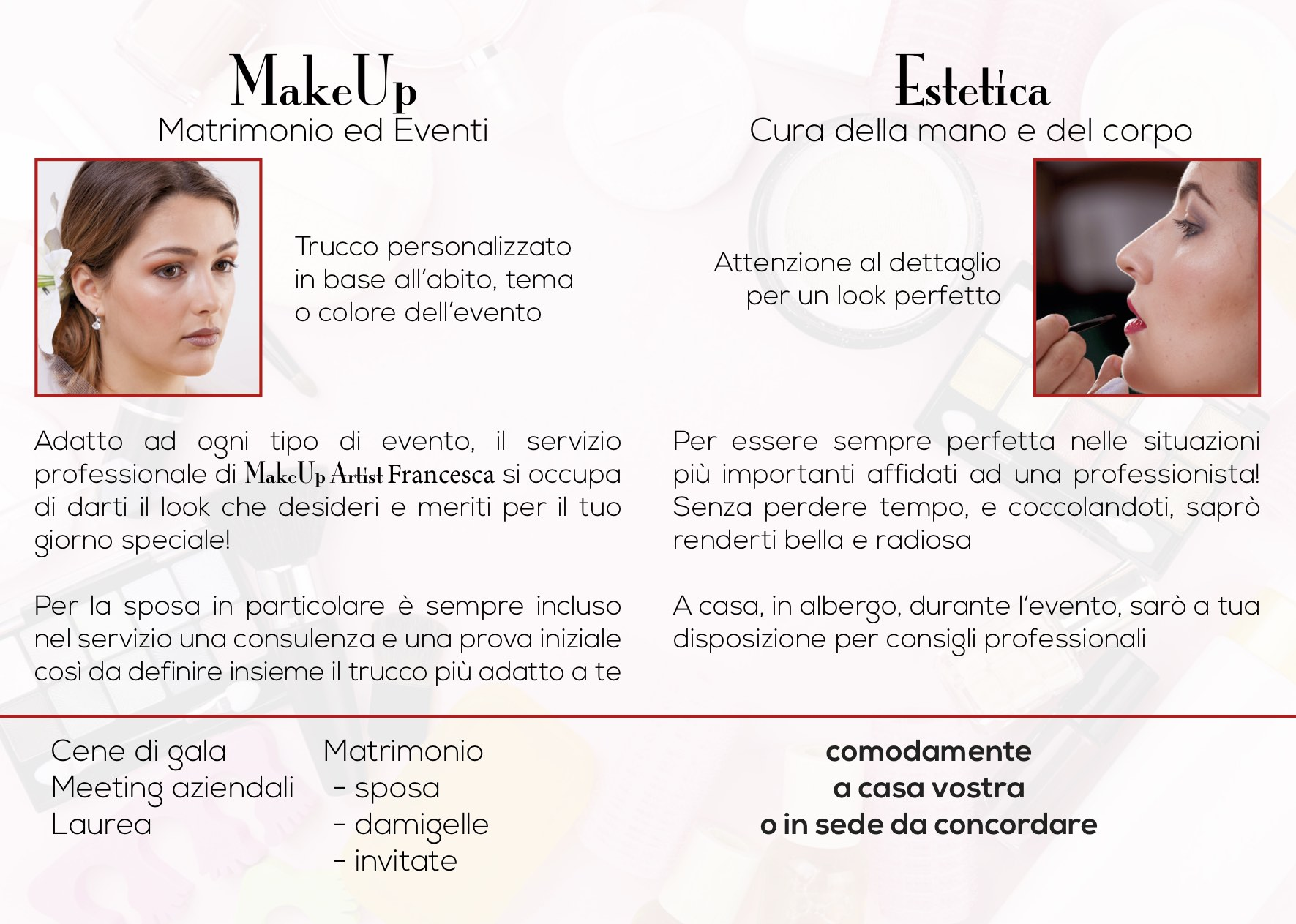 interno flyer makeup artist vicenza