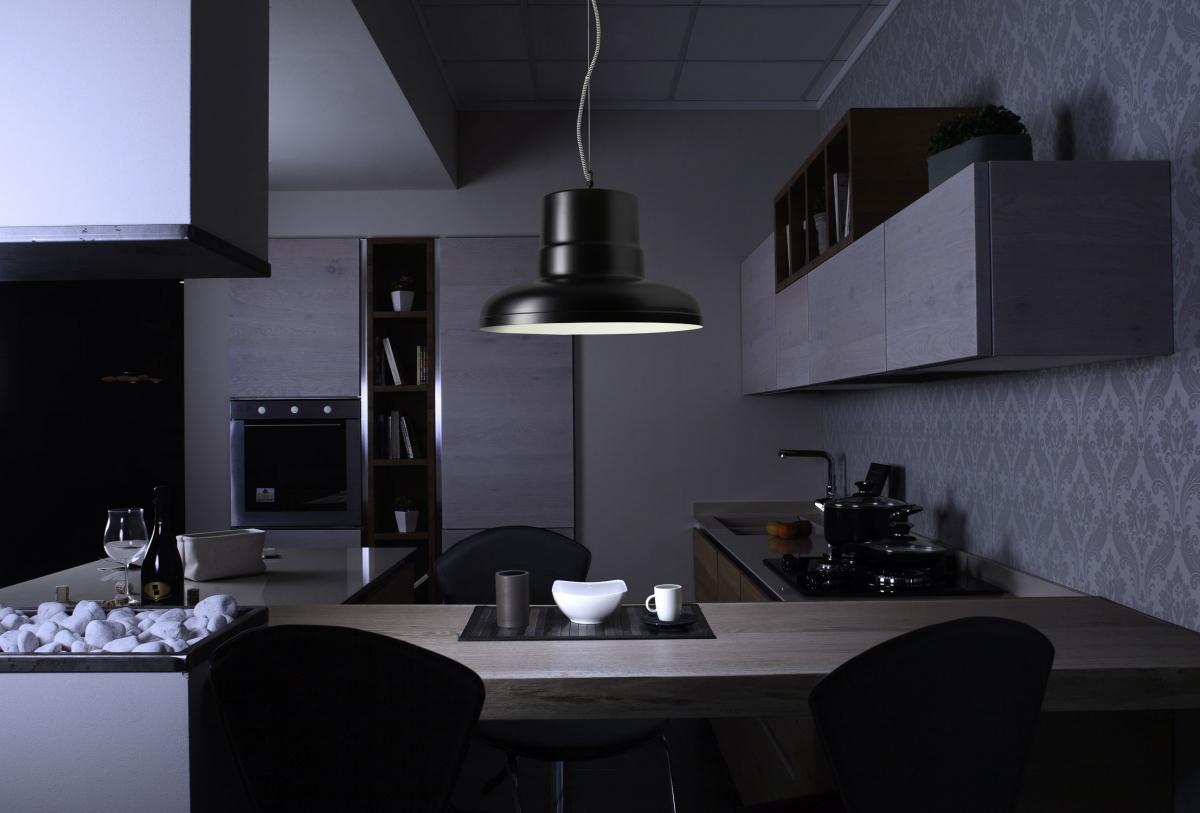 Fotografia di interni con lampada a sospensione